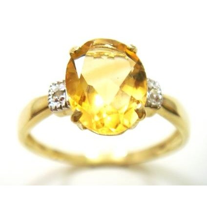 Jewelry & Watches Kind-Hearted Syjewellery 9ct Yellow Gold Octagon Natural Peridot & Diamond Ring R988 Gemstone